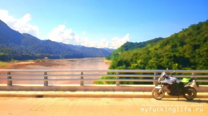 Секретный мост через Меконг на трассе 40